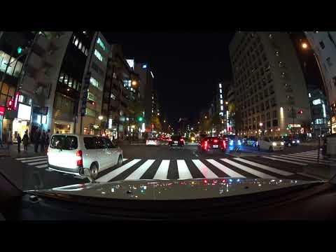 Tokyo night drive 4K 2017 丸の内 新宿 ドライブ