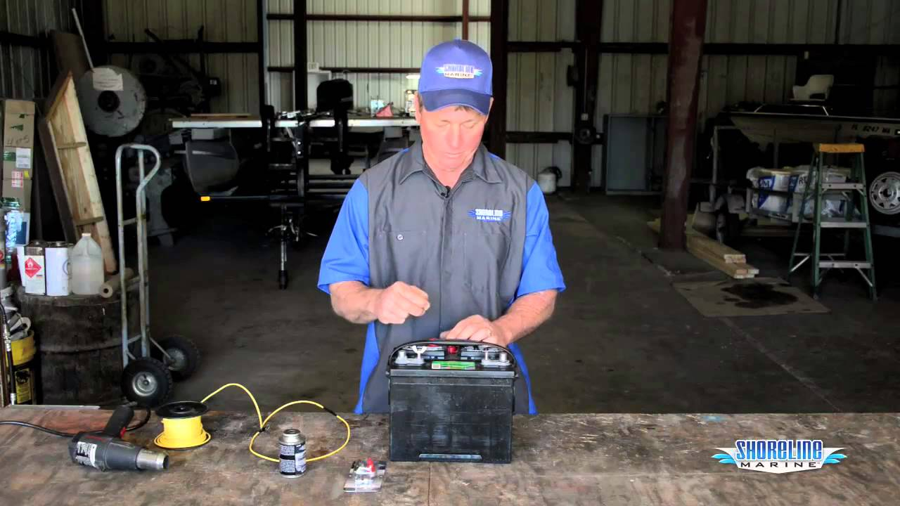 how to properly connect wires to a marine battery