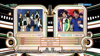"180525 CONGRATS BTS FOR ""FAKE LOVE'S FIRST WIN"" ON MUSIC BANK!  [KBS MUSIC BANK 2018]"