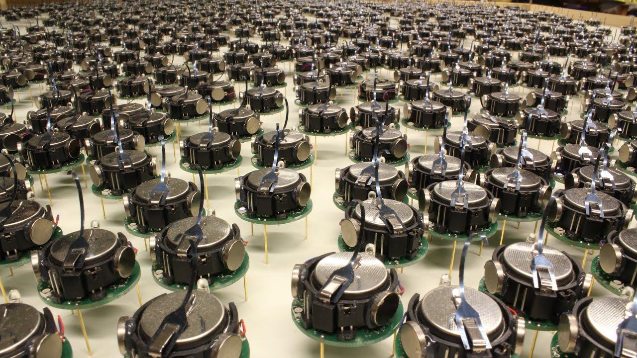 Harvard Unleashes Swarm Of Robots Youtube