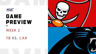 Tampa Bay Buccaneers vs. Carolina Panthers Week 2 NFL Game Preview