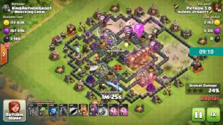 Clash of Clans - Th9 lavaloonion attack strategy tutorial