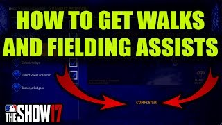 HOW TO GET WALKS AND FIELDING ASSISTS - COMPLETING PROGRAMS AND MISSIONS |MLB 17 Diamond Dynasty|