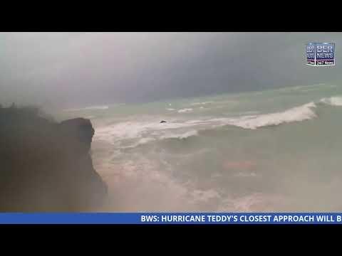 Live Video: Hurricane Teddy approaches Bermuda