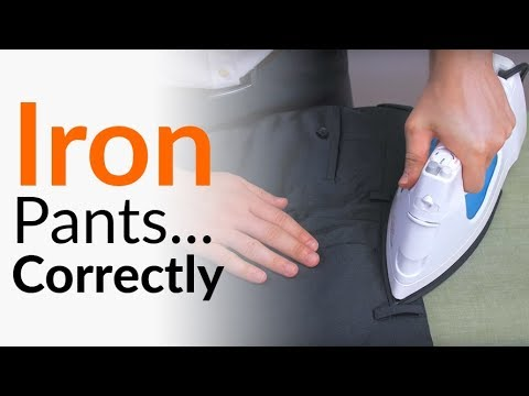 Iron pants with No Damage | How To Press Trousers SAFELY