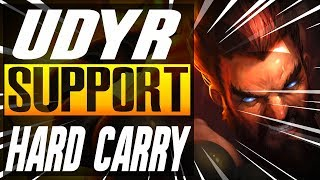 "UDYR ""Carry Support!"" League Of Legends Udyr Support Season 8, Gameplay Funny moments"