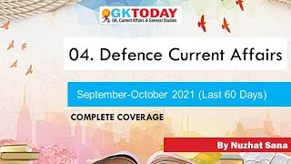 04. Defence Current Affairs (September-October), 2021 by GK Today screenshot 2