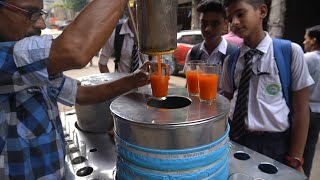 ORANGE JUICE: Different Juice Of Summers With Big Ice | Indian Street Food