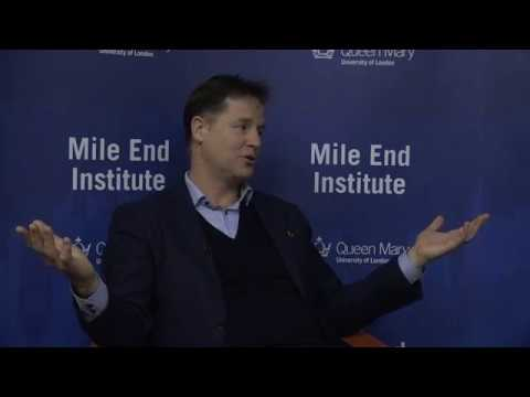 Nick Clegg at the Mile End Institute, Queen Mary University of London
