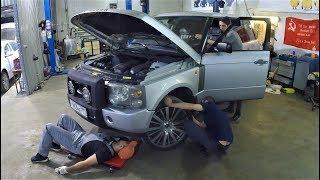 Land Rover Range Rover III не успел выехать из сервиса и уже сломался :)))