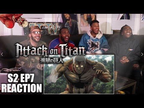 EREN VS ARMORED TITAN! ATTACK ON TITAN 2X7 REACTION/REVIEW (SEASON 2 EP 7)