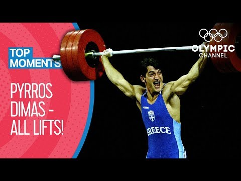 All Pyrros Dimas Olympic Medal Lifts | Top Moments