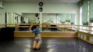 Видео уроки танца живота: Ковбойский танец (4 часть лицом)