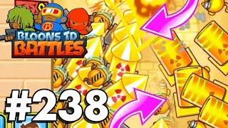 *NEW* FIREWORKS TOWER Vs MORTER! | Bloons TD Battles Part 238 | Brand New Golden Morter Tower Skin!