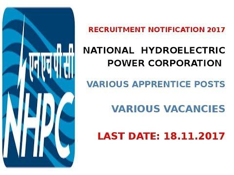 Recruitment in National Hydroelectric Power Corp ( नेशनल हाइड्रोलिक कार्पोरेशन) 2017, बंपर रिक्तियाँ