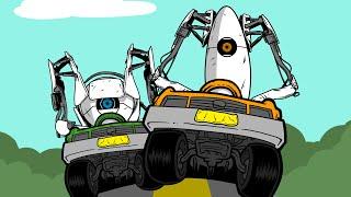 Portal 2 Race Vs Mini Ladd - Hilarious Voice Changer!