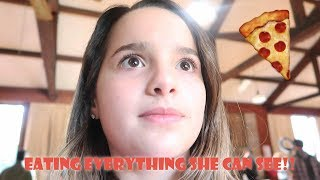 EATING EVERYTHING SHE CAN SEE! 🍕 (WK 353.2) | Bratayley