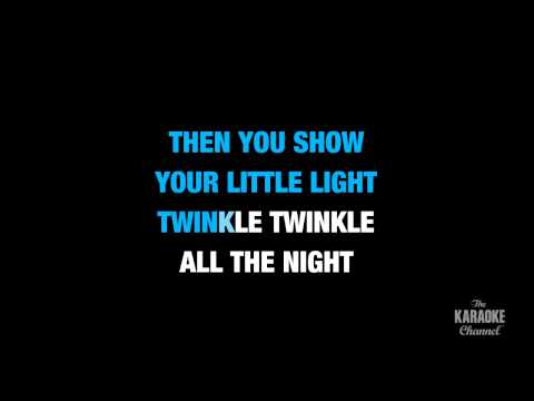 "Twinkle, Twinkle Little Star in the Style of ""Traditional"" karaoke video with lyrics (no lead vocal)"