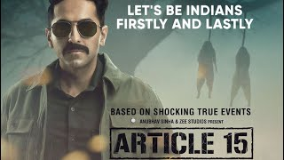 Article 15 Movie Review Ayushmann Khurrana Fights Caste Evils in This Gripping Drama