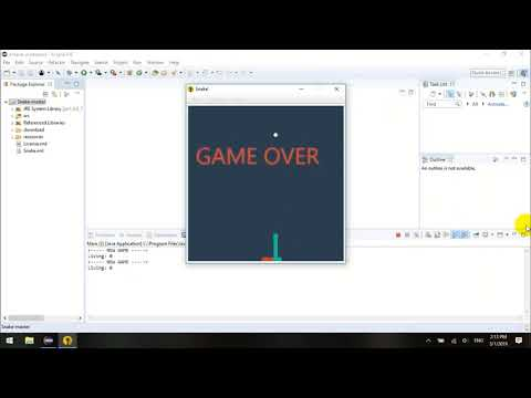 Eclipse Project - Source Code JAVA Game Snake 2D - Download & Import
