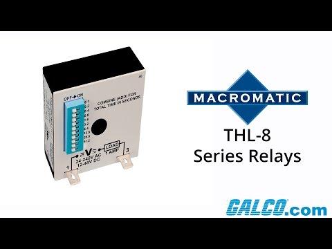 Macromatic's THL-8 Series Timing Relays