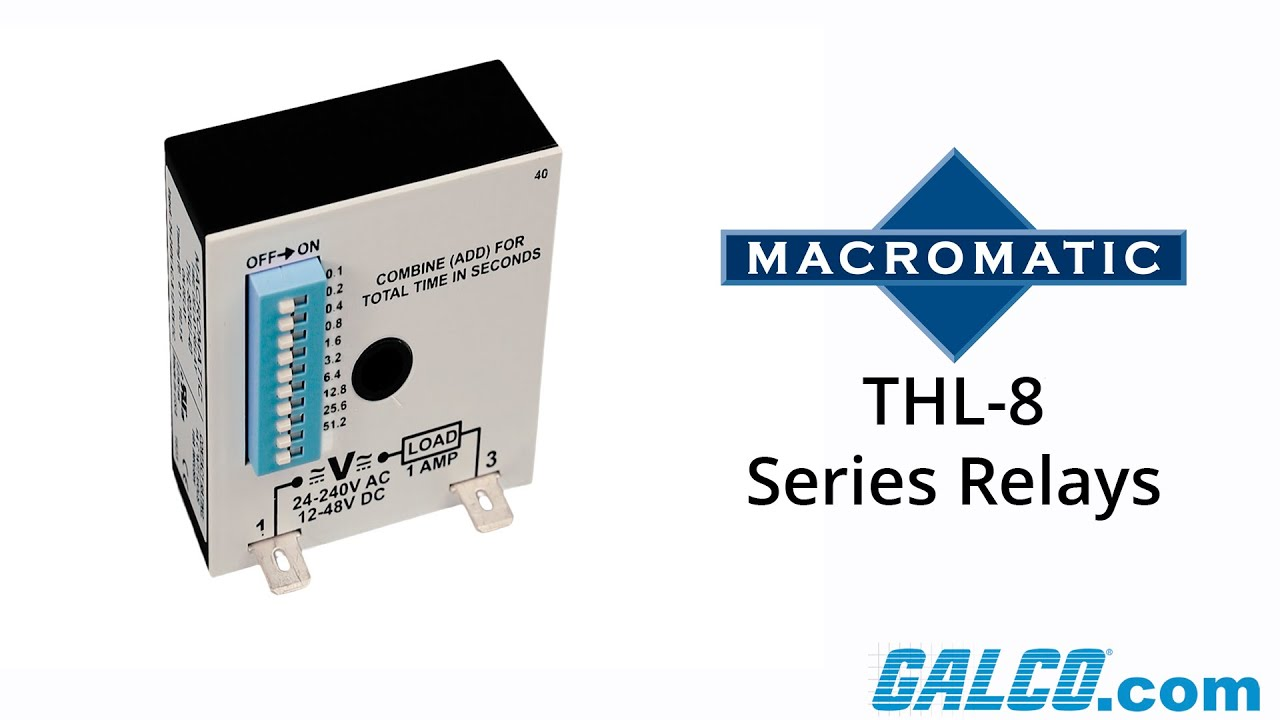 Macromatic's THL-8 Series Timing Relays - YouTube on delay timer relay, macromatic alternating relay, abb alternating relay, macromatic phase monitor relay,