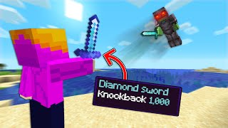 Minecraft Manhunt But, I Have KnockBack 1,000!