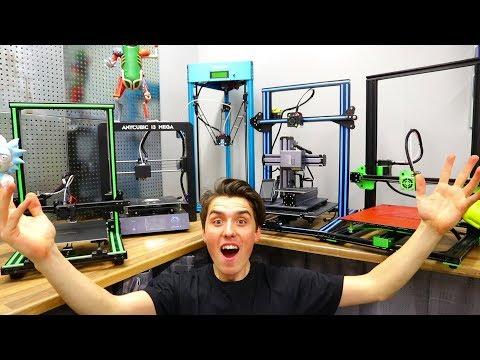 MASSIVE 3D Printer Comparison - Best 3D Printer 2018