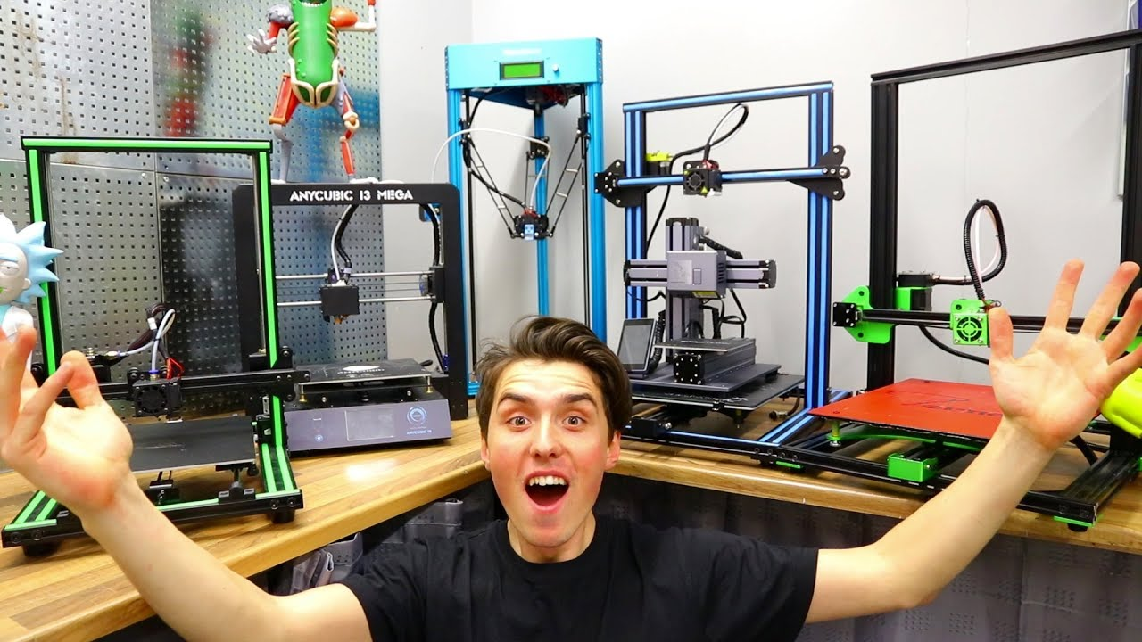 Best Budget 3d Printer 2020 MASSIVE 3D Printer Comparison   Best 3D Printer 2018   YouTube