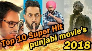 Top 10 Highest Grossing Punjabi Movies of  2018