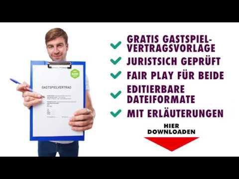 Gratis Gastspielvertrag-Vorlage|becker