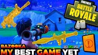 MY BEST GAME YET!! *WATCH FULL VIDEO* + I GOT THE BAZOOKA And Scar-H (Fortnite Battle Royale)