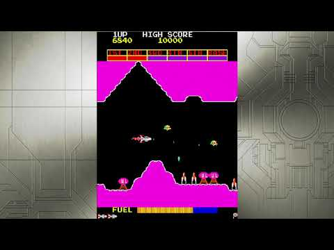 Scramble - gameplay (Arcade Classics Anniversary Collection) |