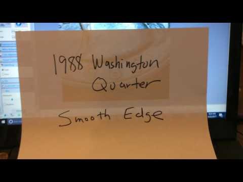 1988 Washington Quarter Error with Smooth Edge