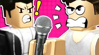 2 valentões têm uma batalha Roblox rap...