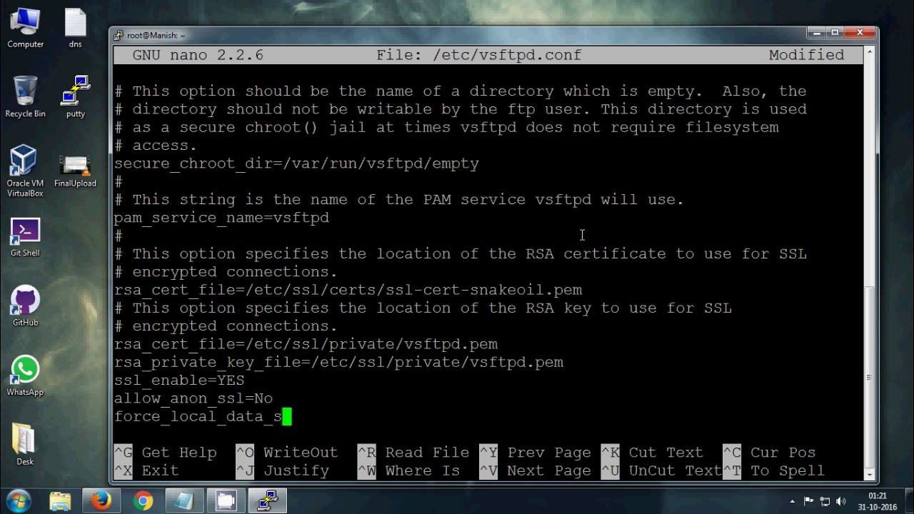 secure ftp server in chroot jail How to setup a sftp server with users chrooted in their home directories  permissions probably need to be set to 755 on the chroot directory and any parent.