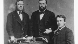 An audio recording made in 1878 on a sheet of tinfoil and played phonograph invented by thomas edison has been unveiled. scott pelley reports it is beli...