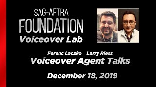 Voiceover Lab: Voiceover Agent Talks with Ferenc Laczko & Larry Riess