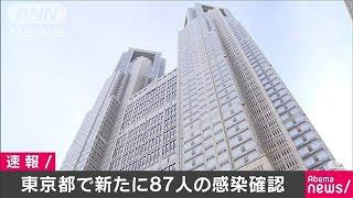 東京都で新たに87人の感染を確認(20/05/04)