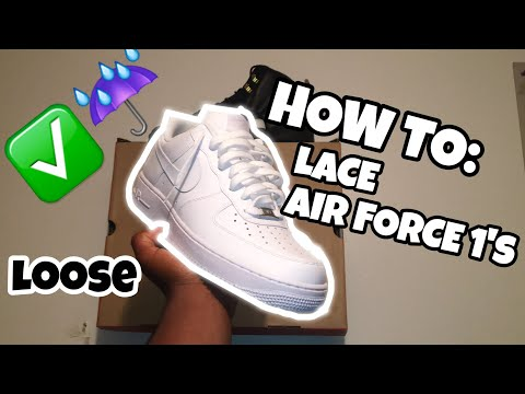 How to lace air force 1's ☔️✅(Loose)