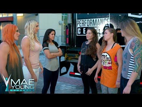 Charlotte Flair, Becky Lynch & Bayley confront Ronda Rousey, M.Shafir & J. Duke: Sept. 5, 2017