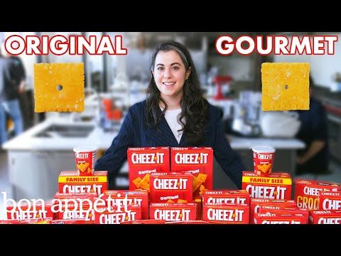 Watch this pastry chef attempt a gourmet take on the classic Cheez-It