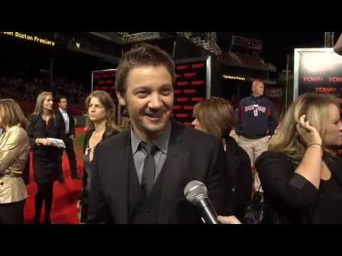 Jeremy Renner at the Fenway Park Premiere of The Town