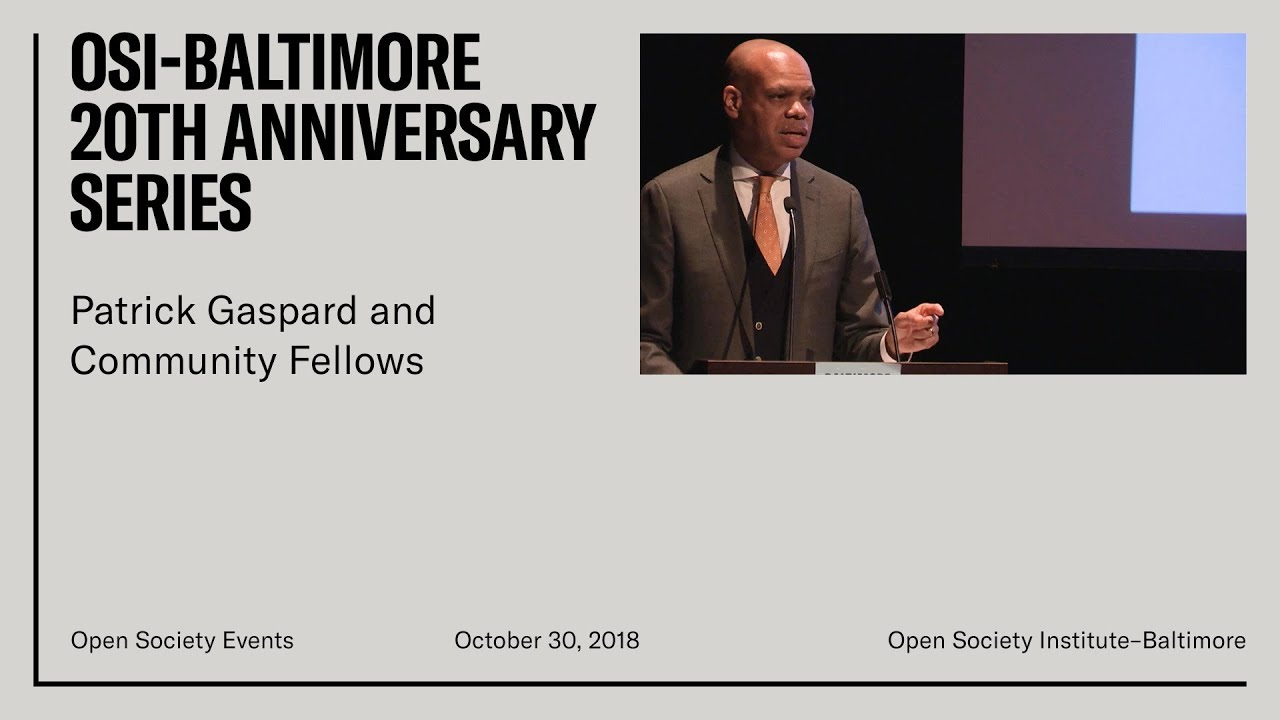 Celebrating 20 Years of Open Society Institute–Baltimore with Patrick Gaspard and Community Fellows