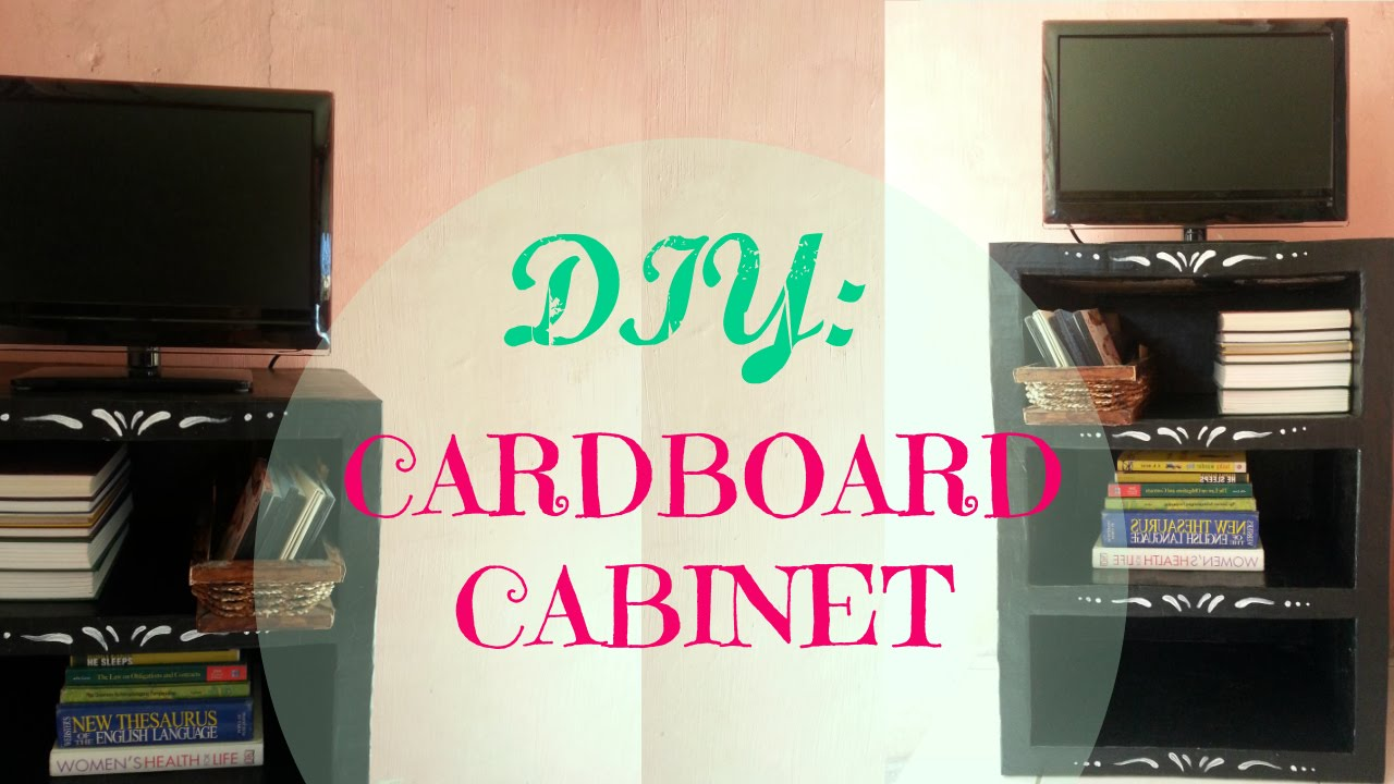 DIY Cardboard SHELF STORAGE/ORGANIZER | STURDY u0026 CHEAP | PERSONALIZED - YouTube & DIY: Cardboard SHELF STORAGE/ORGANIZER | STURDY u0026 CHEAP ...