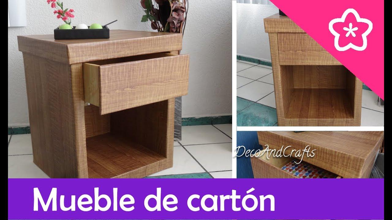 Hacer un mueble de cart n con apariencia de madera diy - Como hacer un mueble de salon ...