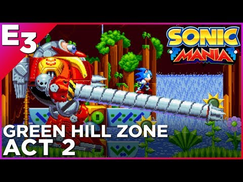 SONIC MANIA: Green Hill Zone, Act 2 Gameplay — Polygon @ E3 2017