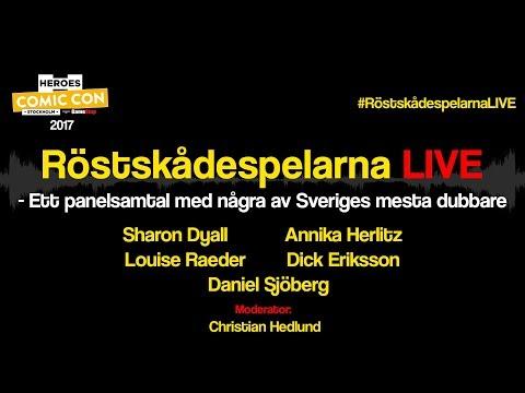 Röstskådespelarna LIVE - Comic-Con Stockholm 2017