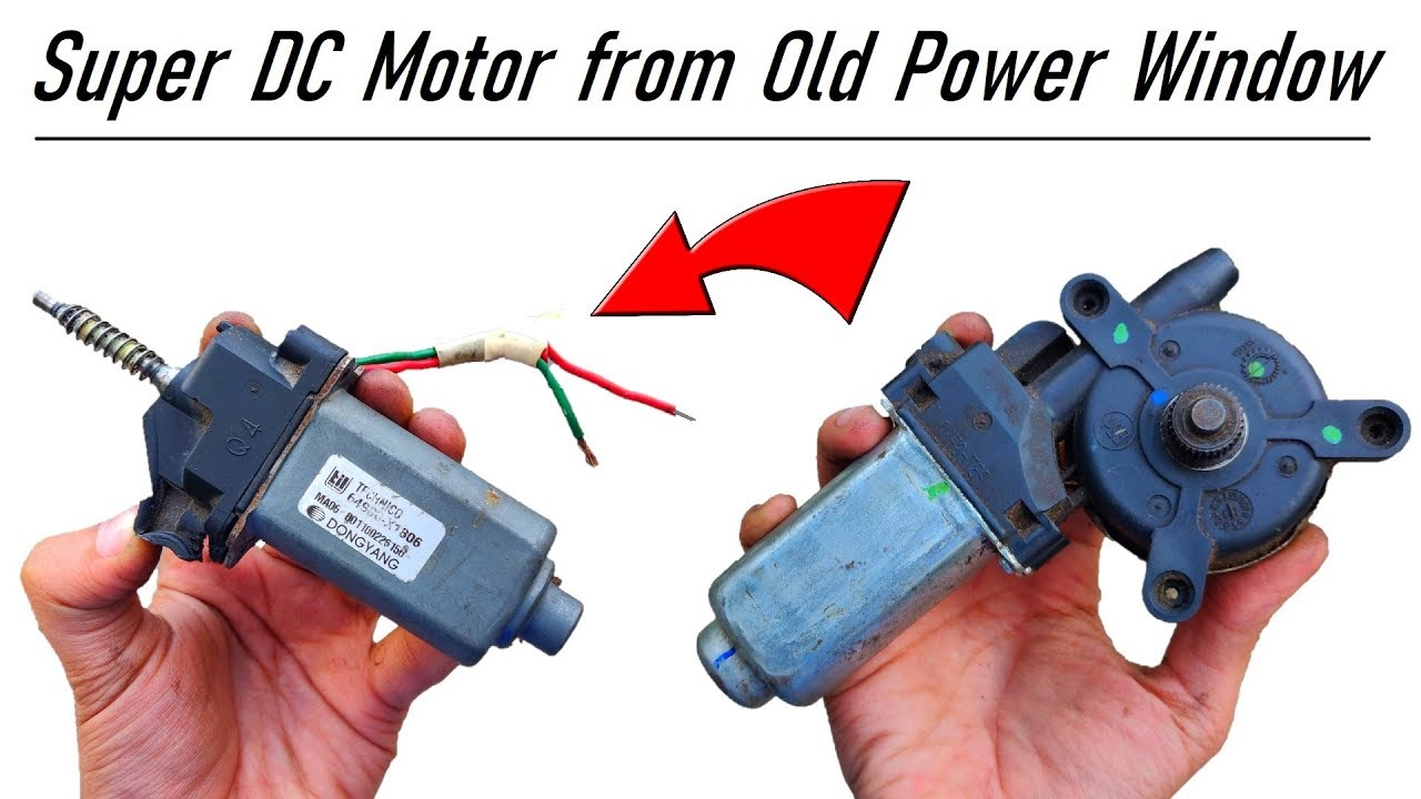 Do Not Throw Away Your Car Power Window Motor 12v 6 Amps Dc Motor Salvage Diy Youtube