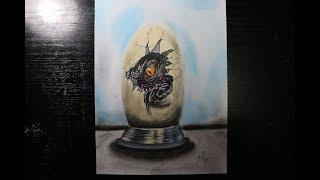 Speed Drawing Dinosaur´s egg of Jurassic World. Dibujando huevo de dinosaurio, Jurassic World!
